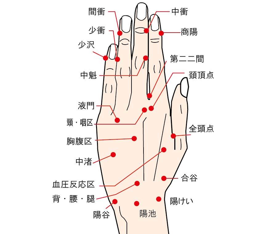 睡眠に良い影響が期待される爪のまわりのツボ